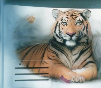Weston Airbrush of Tiger on Coach