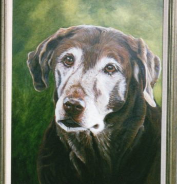 Weston Oil Painting of Dog