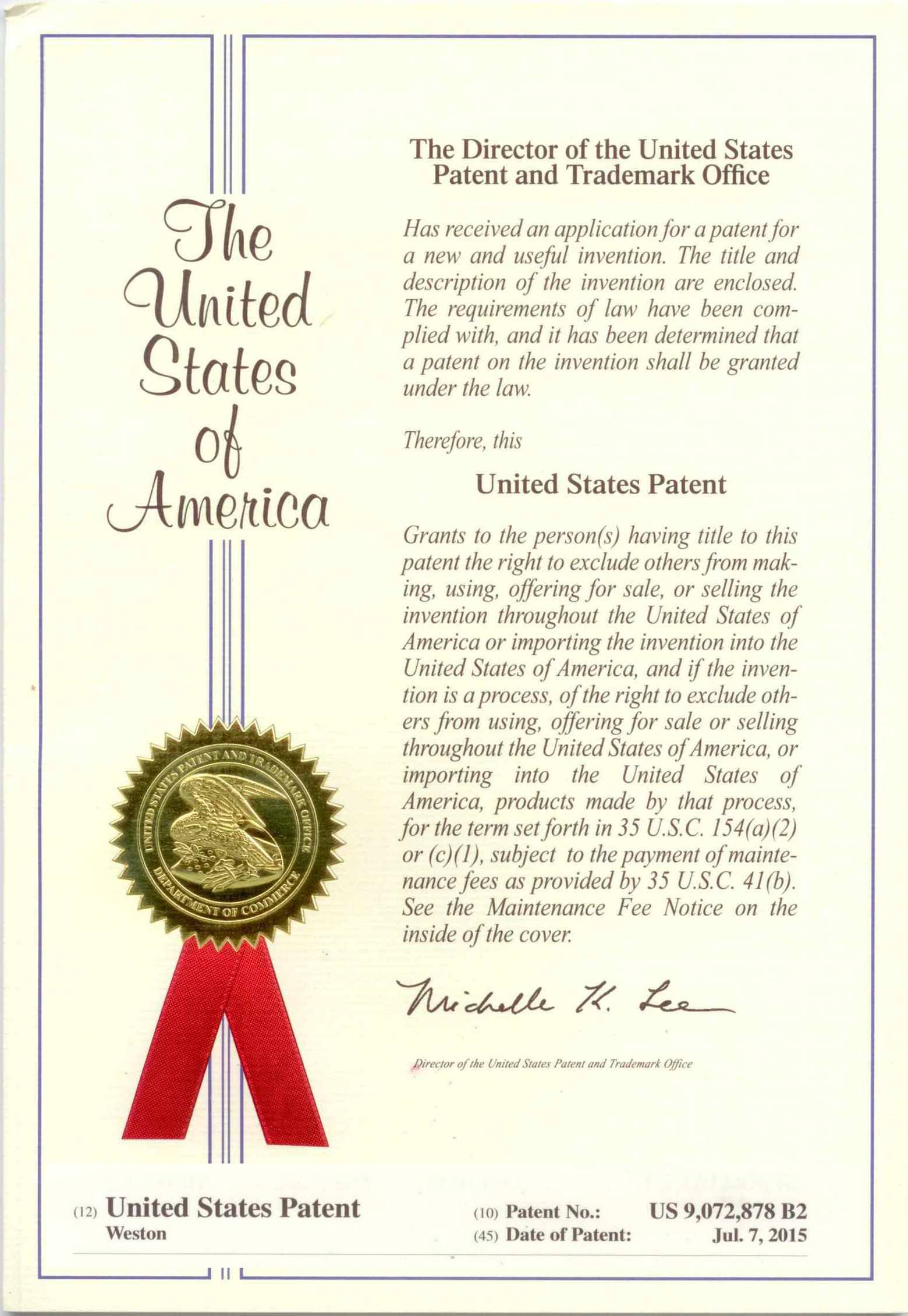 Physical Patent for my brand